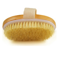 Dry Skin Body Brush Natural Bristle Brush Soft Handle Pouch Brush SPA Brush TB Sale