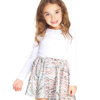 Kids Nanas Pearls Skater Skirt