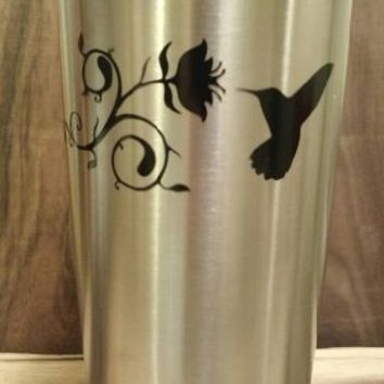 Yeti Decal, Yeti Rambler Decal, Yeti Tumbler Decal, Ozark Tumbler Decal, Wall Vinyl Decal Sticker, Ozark Trail Decal, RTIC, Laptop decal, Humming Bird