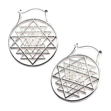 20g 316L Surgical Steel Sacred Geometry WildKlass Plug Hoops