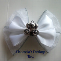 Cinderella's Pumpkin Carriage Disney Inspired Hair Bow