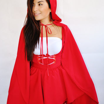 Little Red Riding Hood Adult Costume by VintageDivinitiess on Etsy