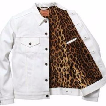 Supreme Levi Fur Denim Jacket - White