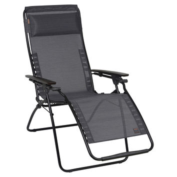 Lagos Reclining Chaise Lounge, Ebony, Outdoor Deck Chairs