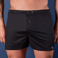 Solid Black Boxer Short - Pete