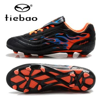 TIEBAO Professional Soccer Shoes Cleats Children Kids Outdoor Sports FG & HG Soles Sneakers Competition Football Boots EU 33-36