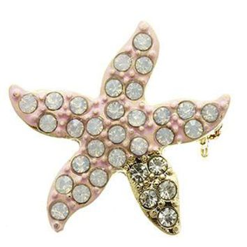Pin Metal Animal Sealife Starfish Pin And Brooch