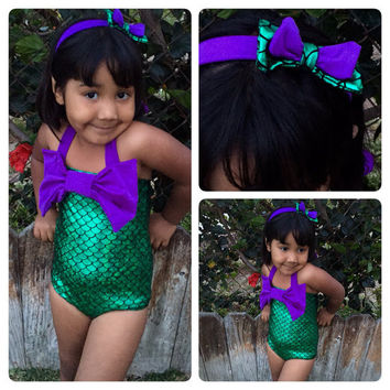 Baby Girls Summer Sets Kids Girls 2pcs Swim Mermaid Beachwear Girls biquini infantil Bathing Children's Girls Outfits