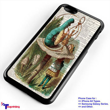Alice in Wonderland Hookah Caterpillar - Personalized iPhone 7 Case, iPhone 6/6S Plus, 5 5S SE, 7S Plus, Samsung Galaxy S5 S6 S7 S8 Case, and Other