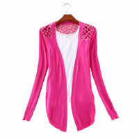 Autumn Ctrlstyle Fashion Clothes Women Clothing New Spring Lace Sweet Crochet Knit Blouses Sweater Cardigan Lace Blouse Jacket