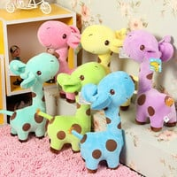 Plush Giraffe Soft Toys Animal Dear Doll Baby Kids Children Birthday Gift 1pcs = 1933157444