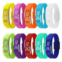 Relojes Mujer 2015 Women Watches Color Led Digital Wrist Watch Silicone Jelly Waterproof Sports Bracelet Watch Women Ladies Gift