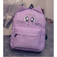 wholesale women shoulder bag cat ear canvas cute school bags backpacks teenage girls mochila feminina Outdoor Travel Pack DL1925