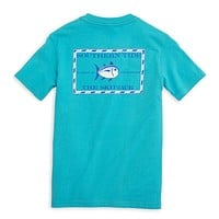 Youth Classic Skipjack Tee Shirt in Scuba Blue by Southern Tide