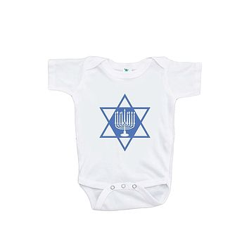 Custom Party Shop Baby's Menorah Hanukkah Onepiece