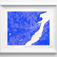 Quebec, Canada, Wall Decor, Town, Illustration, Map, State, Print, Beautiful, Nursery, Poster, Pretty, Room, Art, World, Street [NO 524]