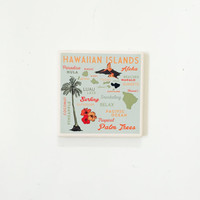 Hawaiian Island Coasters / Hawaii Decor / Hawaii Coasters / Hawaii Gift / Aloha decor /aloha coasters / aloha gifts / vintage