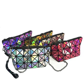 Women Design Fold Over Handbags Madam Pouch  Geometric Plaid Tote Casual Clutch Bags Messenger Bag Shoulder Bags Bolso 45
