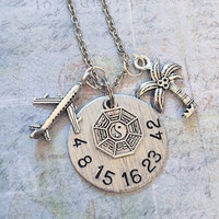 Lost TV Show Numbers Deluxe Necklace - Fandom Jewelry - Fandom Necklace - Dharma Initiative Jewelry