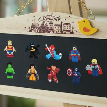 Mixed 8-14PCS Legos Cartoon PVC Fridge Magnets Kids Gifts Party Favor Home Decorate Fashion Travel Accessories Kids Party Gifts