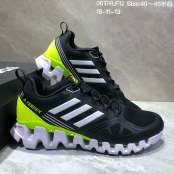 AUGUAU A484 Adidas Terrex High Frequency Breathable TPU Vamp Running Shoes Black fluorescent