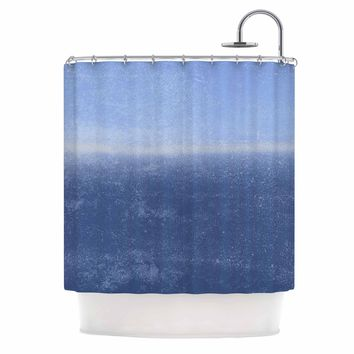 Ocean - Blue Abstract Watercolor Shower Curtain