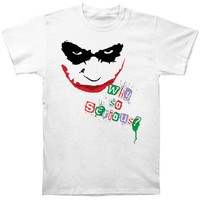 Batman Men's  Too Serious T-shirt White Rockabilia