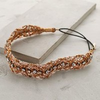 Beaded Braid Headband by Deepa Gurnani Bronze One Size Hair