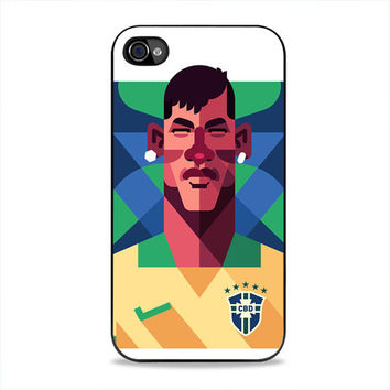 Neymar Vector Art  iPhone 4, 4s Case