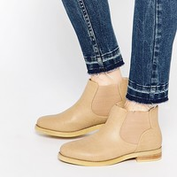 Daisy Street Weathered Tan Chelsea Boots