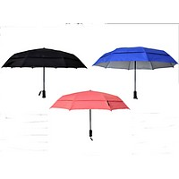 Windproof Umbrella with UV Protection and Flashlight Handle