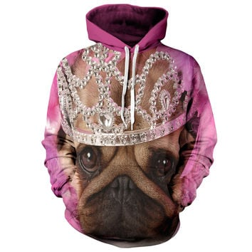 Princess Puppy Hoodie - Comfortable Dog Hooded Sweatshirt