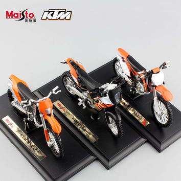 1:18 scale maisto kids Motorcycle KTM 450 EXC Rally SX-F Motocross Racing Bicycle Diecast motorbike metal models auto car toys