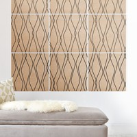 Heather Dutton Fuge Stone Wood Wall Mural