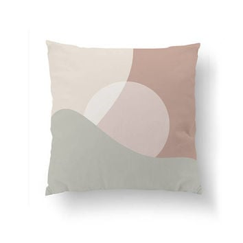 Abstract Pillow, Nordic Design, Pink Pastel Graphic, Home Decor, Cushion Cover, Geometric Shape, Throw Pillow, Simple Art, Decorative Pillow