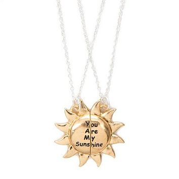 Best Friends You Are My Sunshine Pendant Necklaces | Claire's