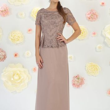 Mother of the Bride Dress Formal Plus Size Gown Groom