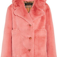 Burberry - Faux fur jacket