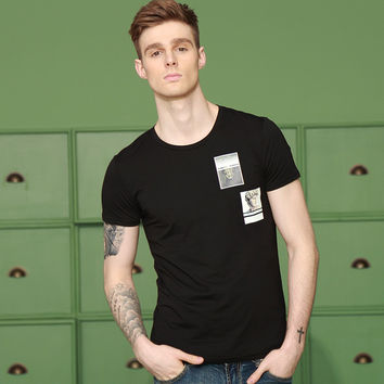 Summer Cotton Print Slim Men's Fashion T-shirts [6544682947]