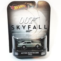 Hot Wheels Retro Ent James Bond Skyfall 1953 Silver Aston Martin DB5 2016 1/6...