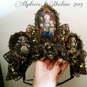 Cathedral Stained Glass Headdress Lay By for Aurora