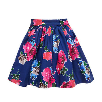 Kate Spade Girls' Coreen Skirt Spring Blooms Print Hyacinth