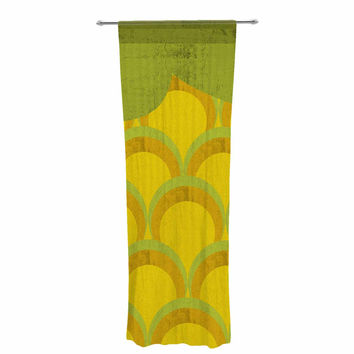 "Kathleen Kelly ""Pineapple"" Digital Food Decorative Sheer Curtain"