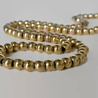 Victorian Gold Filled Ball Chain Necklace With Hidden Push Clasp - 5mm, Gold Bead Necklace, Minimalist Necklace, Antique Necklace
