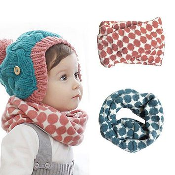 Warm Scarfs Kids Knitted Collar Winter Warm Scarf for Children Baby Girls Baby Scarf O Ring Neck Scarves