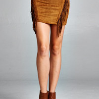Fringe My Heart Suede Skirt- FINAL SALE