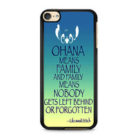 iPod Touch 4 5 6 case, iPhone 6 6s 5s 5c 4s Cases, Samsung Galaxy Case, HTC One case, Sony Xperia case, LG case, Nexus case, iPad case, ohana means Lilo and Stitch Cases