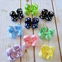 Big dot hair bows - Your Final Touch Hair Accessories - Baby Bows - Toddler hairbows - Girls hair bows