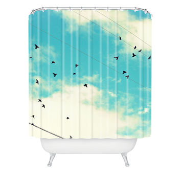 Shannon Clark Blue Skies Ahead Shower Curtain