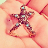 Starfish Mermaid Ring by byElizabethSwan on Etsy